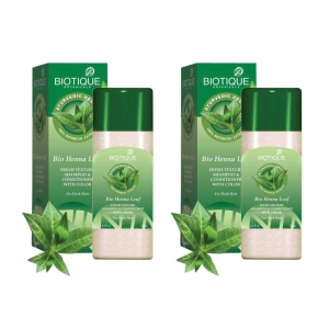 BIOTIQUE BIO HENNA LEAF SHAMPOO & COND 210ML