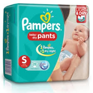 PAMPERS BABY- DRY PANTS S (4-8KG) 22 D