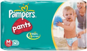 PAMPERS PANTS M 42
