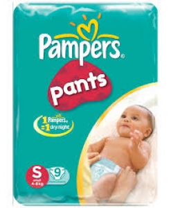 PAMPERS PANTS S 9