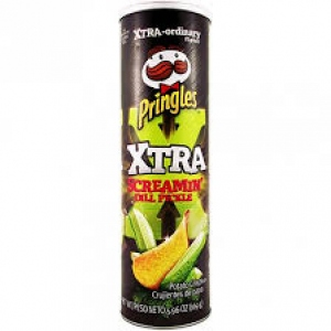 PRINGLES SCREAMIN DILL PICKLE 169G