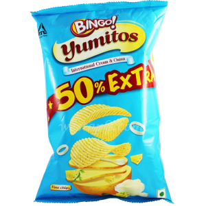 BINGO YUMITOS INTERNATIONAL CREAM & ONION 55G