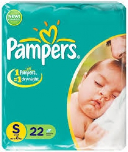 PAMPERS DRY NIGHT S 22 DIAPERS