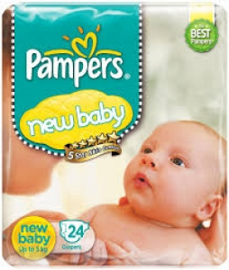 PAMPERS NEW BABY (UP TO 5 KG) 24 DIAPERS
