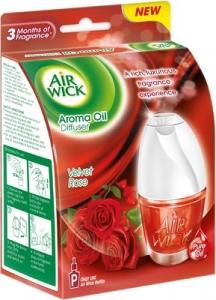 AIR WICK AROMA OIL DIFFUSER VELVET ROSE 1D +R 18ML