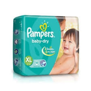 PAMPERS BABY-DRY XL(12+KG) 32 DIAPERS