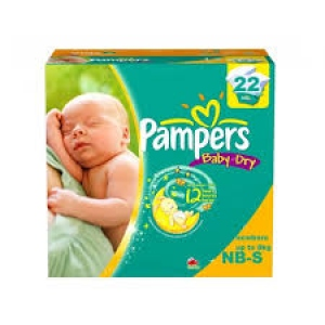 PAMPERS BABY-DRY NB-S (UPTO 8KG) 22D