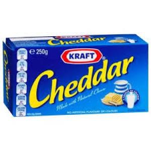 KRAFT CHEDDAR CHEESE BLOCK 250G