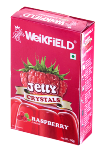 WEIKFIELD JELLY CRYSTALS RASPBERRY FLAVOUR 90 G