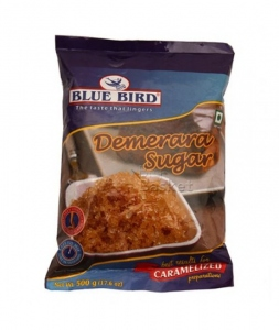 BLUE BIRD DEMERARA SUGAR POUCH 500G