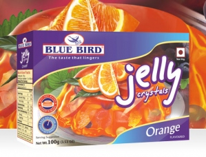 BLUE BIRD VEG JELLY CRYSTALS ORANGE 100G