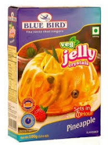 BLUE BIRD VEG JELLY CRYSTALS PINEAPPLE 100G