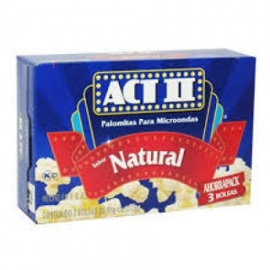 ACT II POPCORN NATURAL 33G