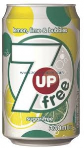 PEPSI SEVEN UP SUGAR FREE CAN 300ML
