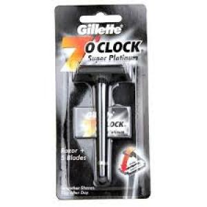 GILLETTE 7`O CLOCK SUPER PLANTNUM BLADES 7 N