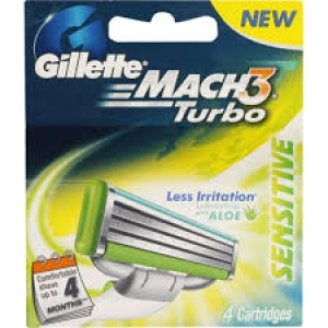GILLLETE TURBO SENSITIVE 4 CARTRIDGES