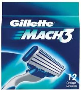 GILLETTE MACH 3 CARTRIDGES 12