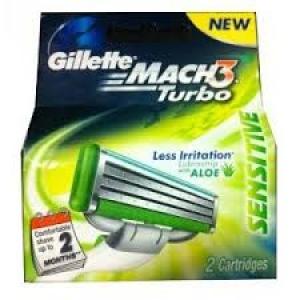 GILLETTE MACH 3 TURBO SENSITIVE CARTRIDGES 2