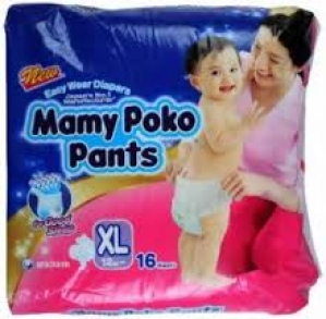 MAMY POKO PANTS XL (12-17KG) 16PCS