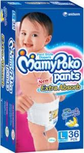 MAMY POKO PANTS L (9-14KG) 36PCS