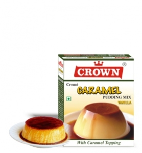 CROWN CARAMEL PUDDING MIX VANILLA 100G
