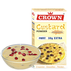 CROWN CUSTARD POWDER PINEAPPLE 130G