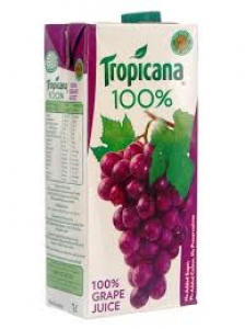 TROPICANA 100% GRAPE 1LTR