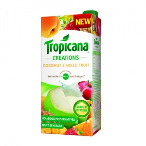 TROPICANA CREATIONS COCONUT & MIXED FRUIT 1LTR