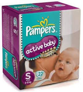 PAMPERS ACTIVE BABY S(3-8KG) 22D