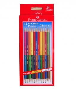 FABER-CASTELL 12 BI-COLOUR PENCILS 174MM