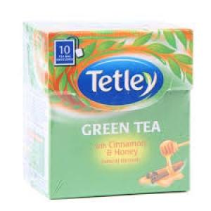 TETLEY GREEN TEA CINNAMON & HONEY 10 TEA BAGS