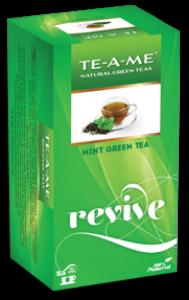 TE-A-ME MINT GREEN TEA 25 TEA BAGS