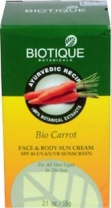 BIOTIQUE BIO CARROT SPF 40 SUN CREAM 55G