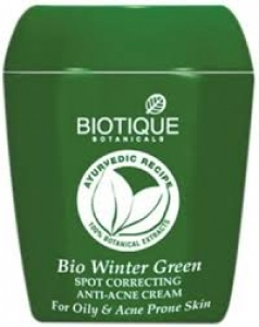 BIOTIQUE BIO WINTER GREEN ANTI-ACNE CREAM 16G