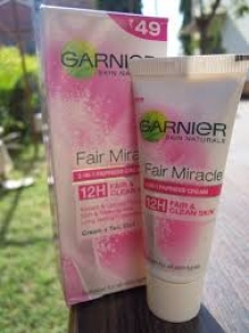 GARNIER FAIR MIRACLE 2-IN-1 FAIRNESS CREAM 15G