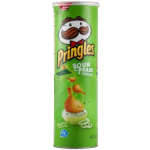 PRINGLES SOUR & CREAM ONION 169G