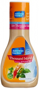 AMERICAN GARDEN LITE 1000 ISLAND DRESSING  267ML