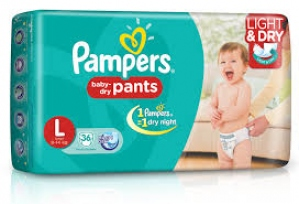 PAMPERS BABY- DRY PANTS L(9-14KG) 36 D