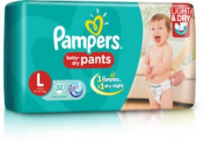 PAMPERS BABY- DRY PANTS L (9-14KG) 52 D