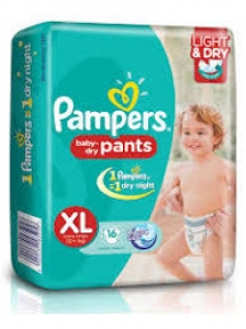 PAMPERS BABY DRY-PANTS XL(12+ KG) 16 DIAPERS