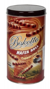 BISKOTTO WAFER ROLL CAPPUCCINO STICKS 400G