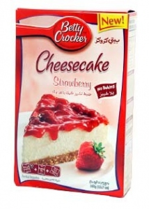 BETTY CROCKER CHEESECAKE MIX STRAWBERRY 360G