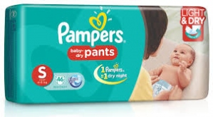 PAMPERS BABY- DRY PANTS S (4-8KG) 46D