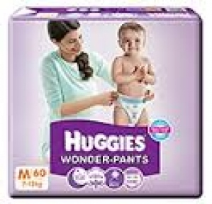 HUGGIES WONDER-PANTS M (7-12KG) 60 PANTS
