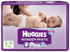 HUGGIES WONDER-PANTS S (4-8KG) 18 PANTS