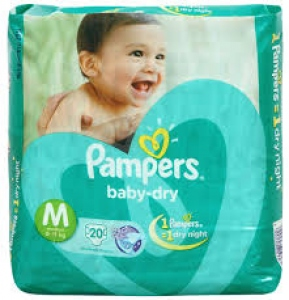 PAMPERS BABY-DRY M (6-11KG) 20 D