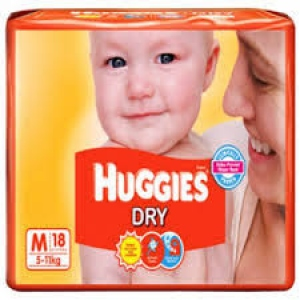 HUGGIES DRY M(5-11KG) 18 DIAPERS