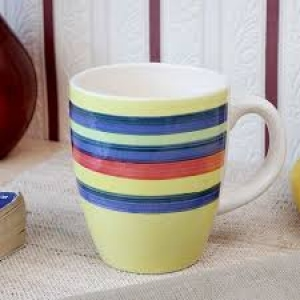ROXX HANDPAINTED STRIPES MUG