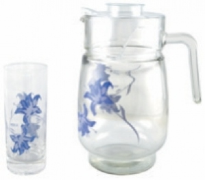 ROXX BLUE IRIS 7PC BEVERAGE SET-8071