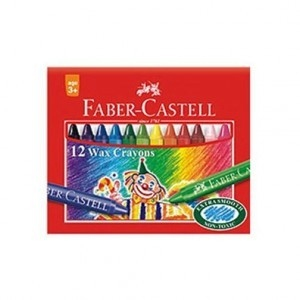 FABER-CASTELL 12 WAX CRAYONS 57MM